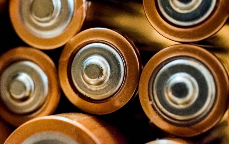 Close up Photo of batteries by Hilary Halliwell, via Canva