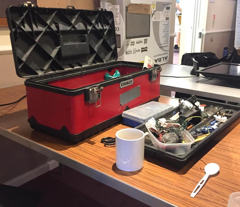 'Image of toolbox at repair cafe'